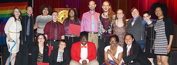 Graduates at Lavender Graduation
